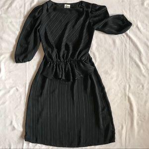 Vintage Byer Too Black Two Piece Skirt Set